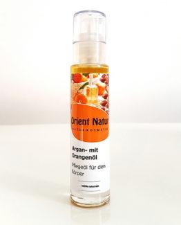 Arganöl mit Orangenöl Pflegeöl für Haut und Körper - 50 ml Naturkosmetik