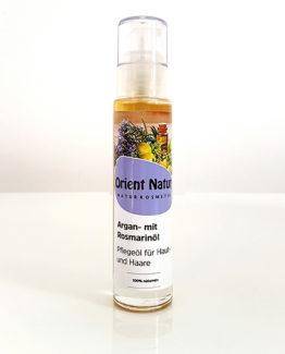 Arganöl mit Rosmarinöl Pflegeöl für Haut, Körper und Harre - 50 ml Naturkosmetik